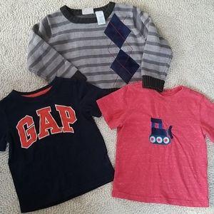 2t T-shirt Boys Tops 3pc